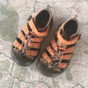Kids Size 12 Keen Sandals, Orange